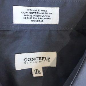 Claiborne Shirts - CONCEPTS by Claiborne Wrinkle Free Dress Shirt